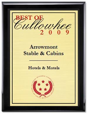 2009 Award Arrowmont Stables near Hayesville NC